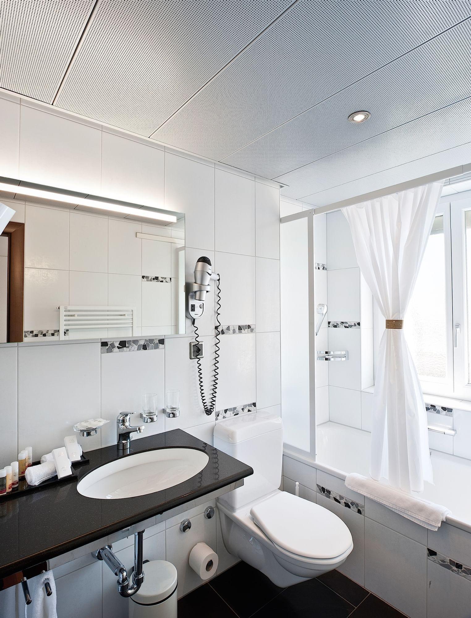 Einzelzimmer Hotel Krone Unterstrass in Zürich