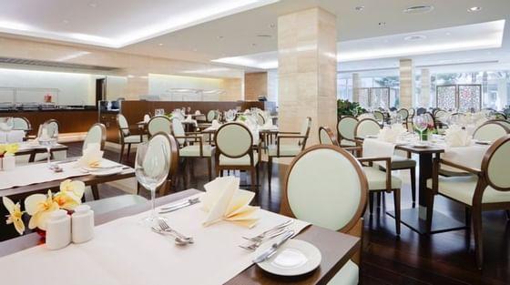 Interior of Brasserie at Crowne Plaza Hotel Bucharest