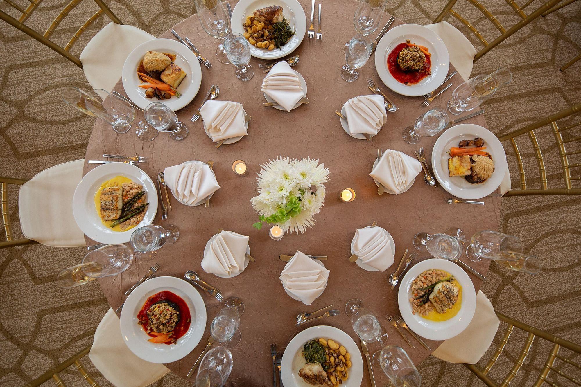 Warwick Allerton Wedding dishes round