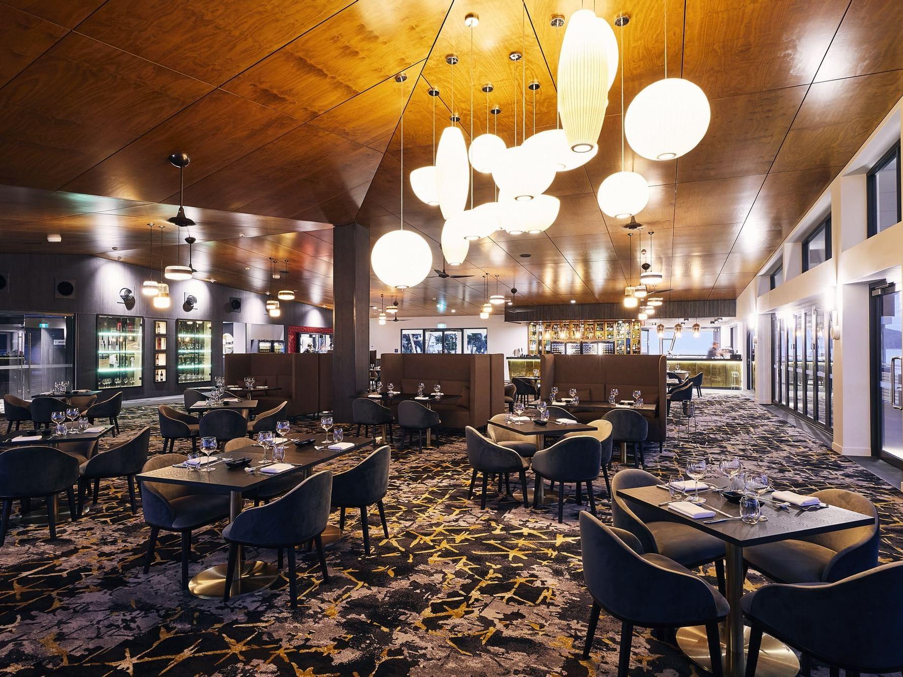 Lighted Infinity Restaurant at Daydream Island Resort