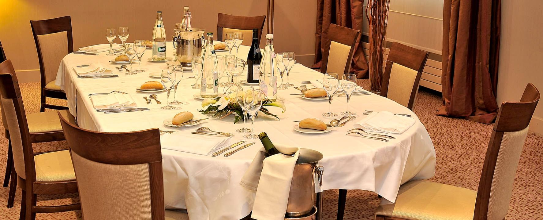 Banquet table close-up