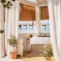 Massage cabine at the MC Beach