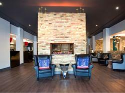 A lobby at the Sandman Signature London Gatwick Hotel