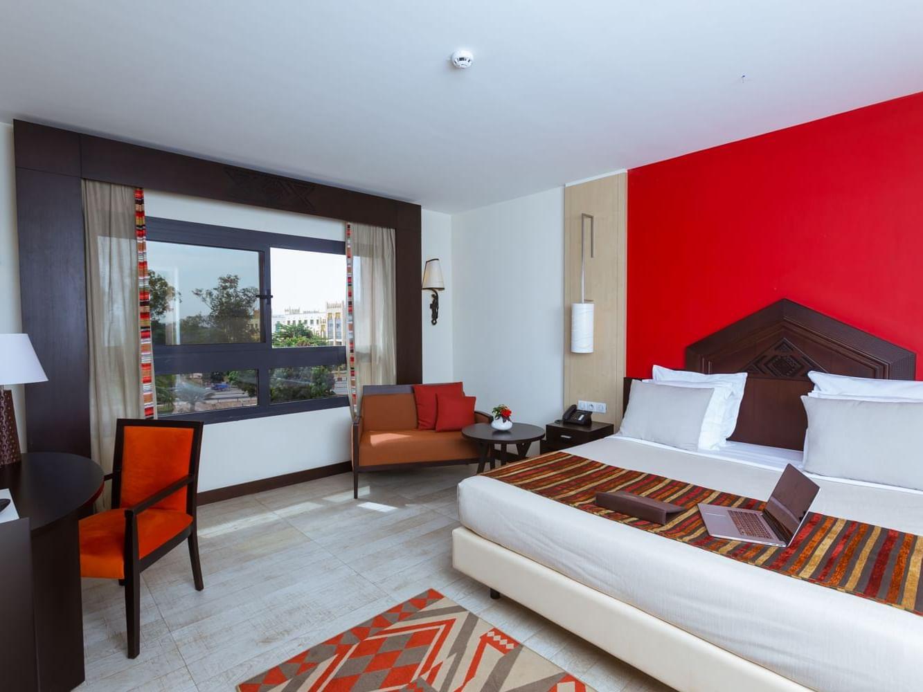 Superior room in Azalai hotel with a big window