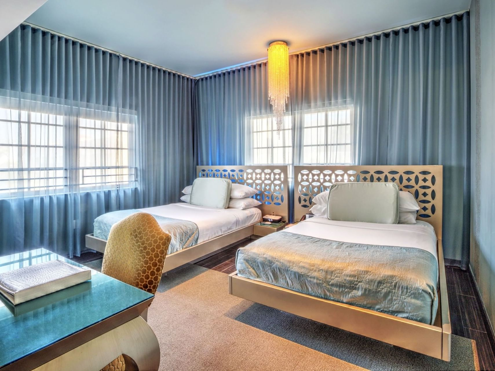 Gold Deluxe Double Double with 2 full beds at Dream South Beach