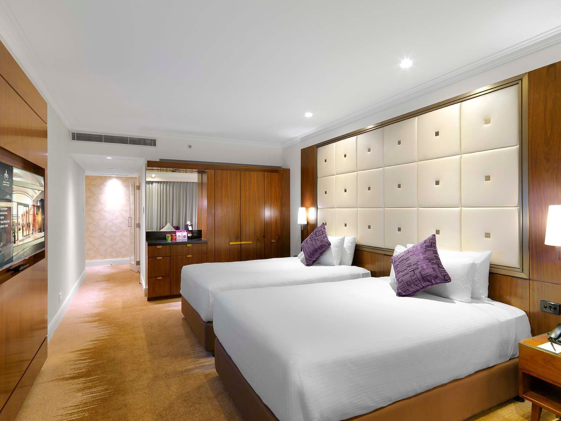 Deluxe Tower Double Double Room at Amora Hotel