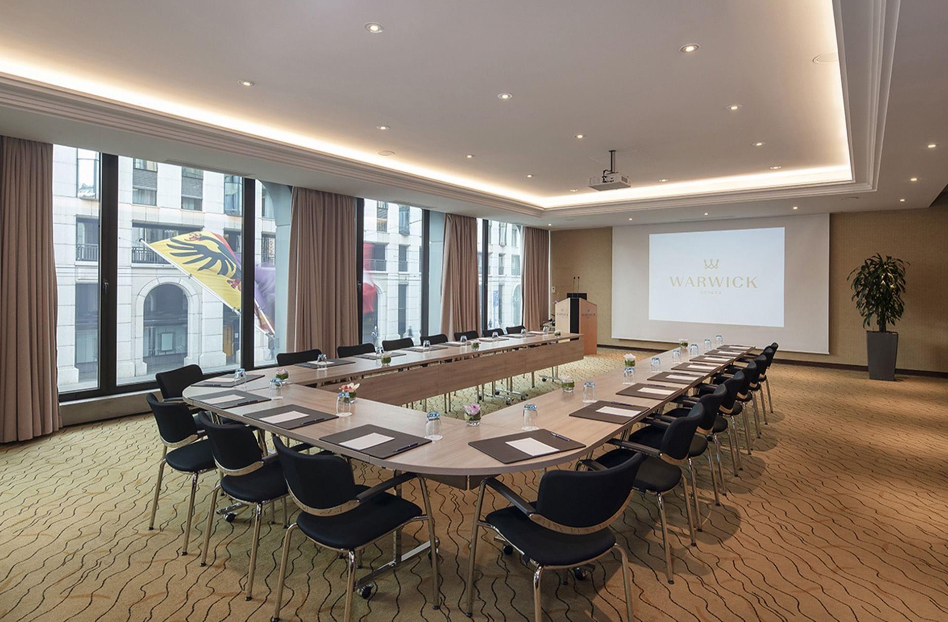 Salle de réunion Jura au Warwick Geneva