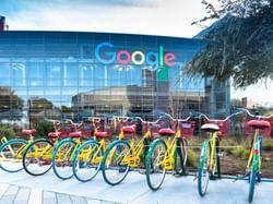 Google bikes at Googleplex in Silicon Valley, CA