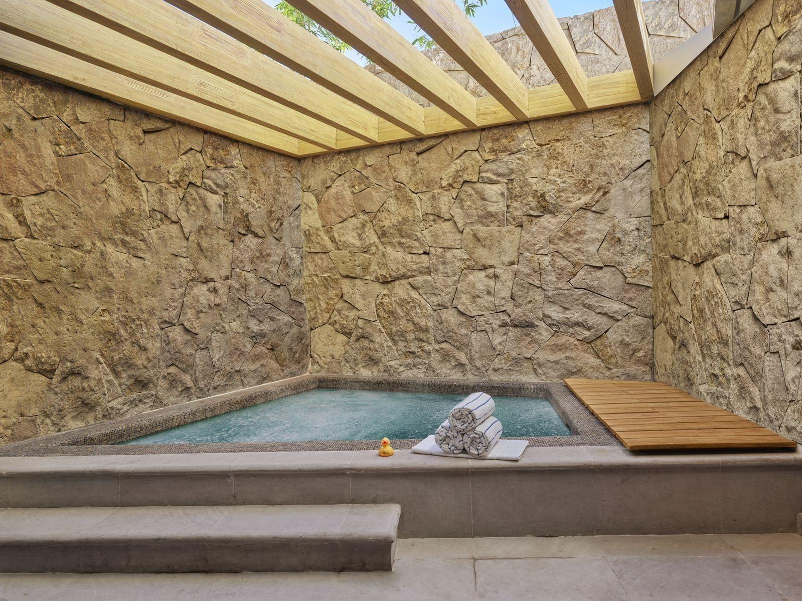 Aqua Suite jacuzzi at Live Aqua Urban Resort San Miguel de Allende