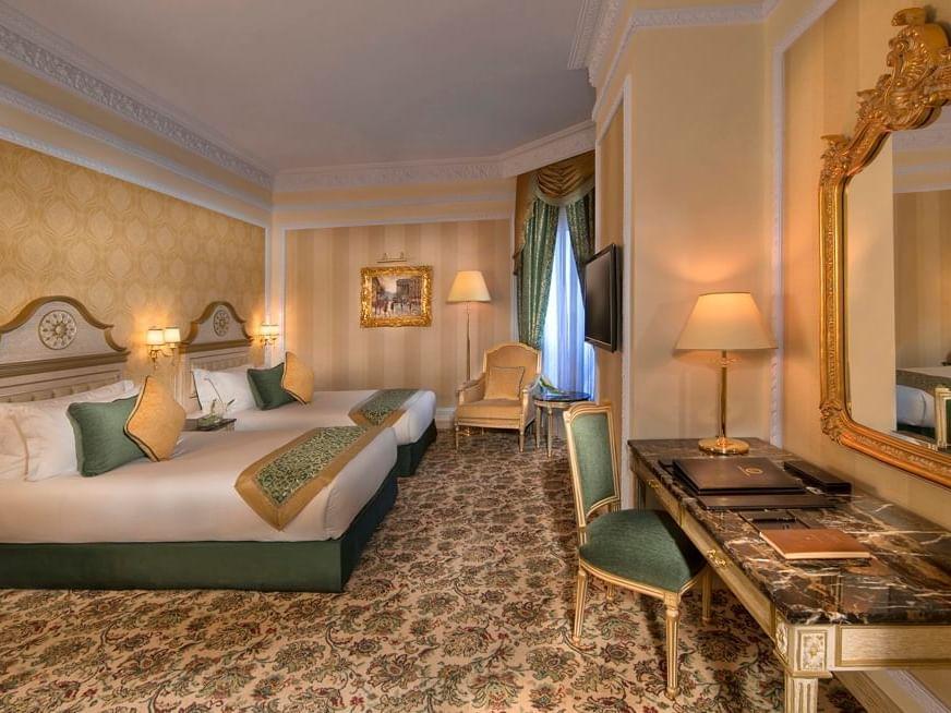 غرفة جراند ديلوكس للعائلة في فندق رويال روز في أبو ظبي، الإمارات العربية المتحدة