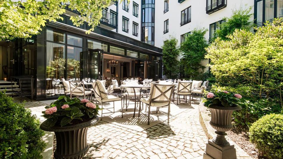 Garten im Hotel München Palace