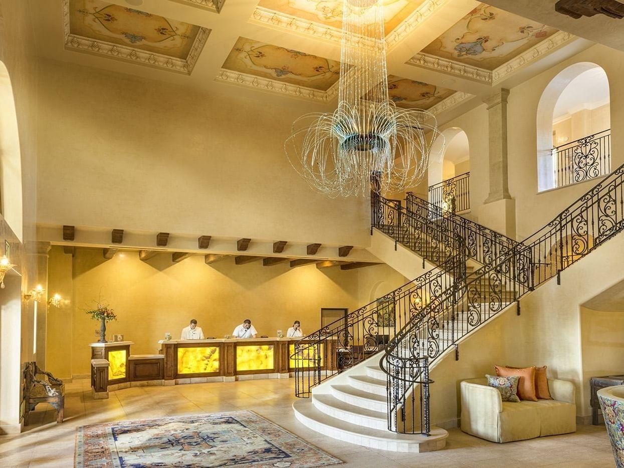 The lobby of Allegretto Vineyard Resort