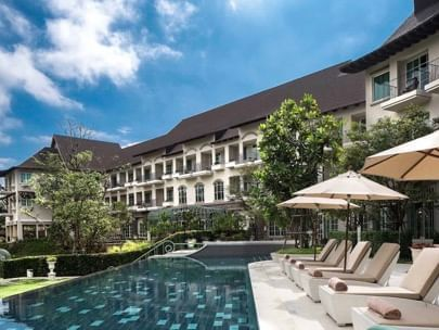 Swimming Pool with garden view at U Hotels and Resorts