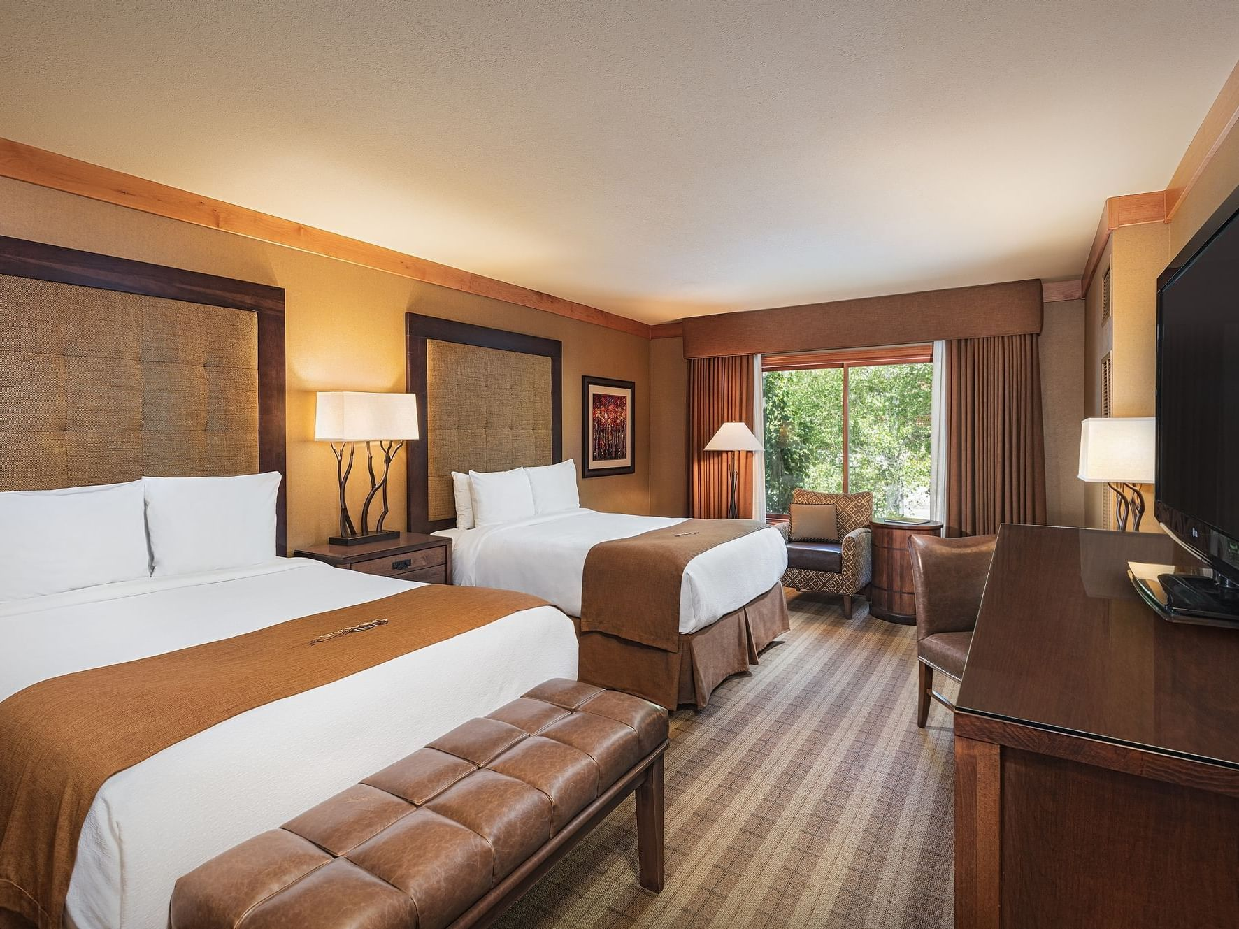 Premium Two Queen room at Wyoming Inn
