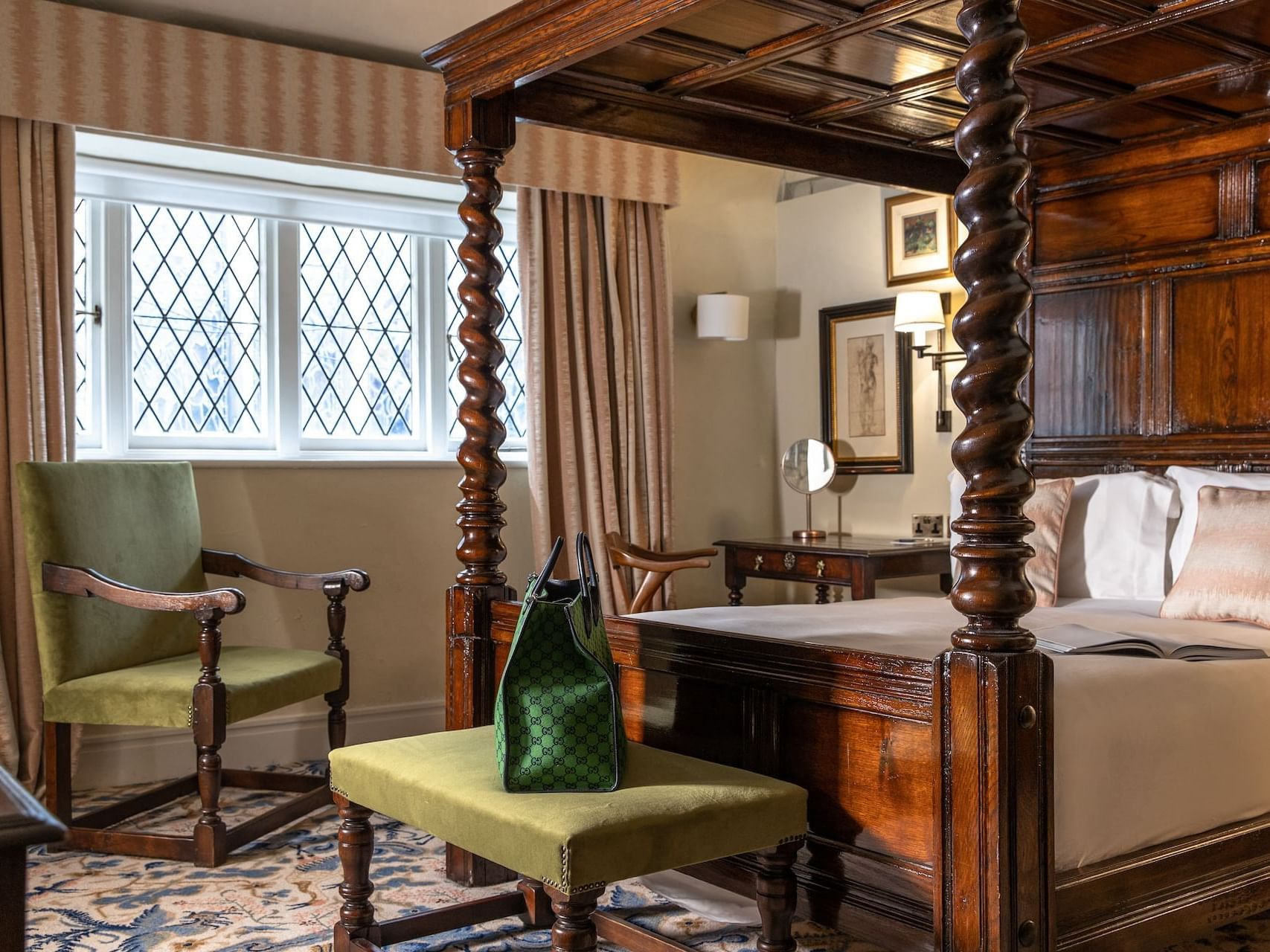 Interior of Heritage Four Poster Room at The Relais Henley