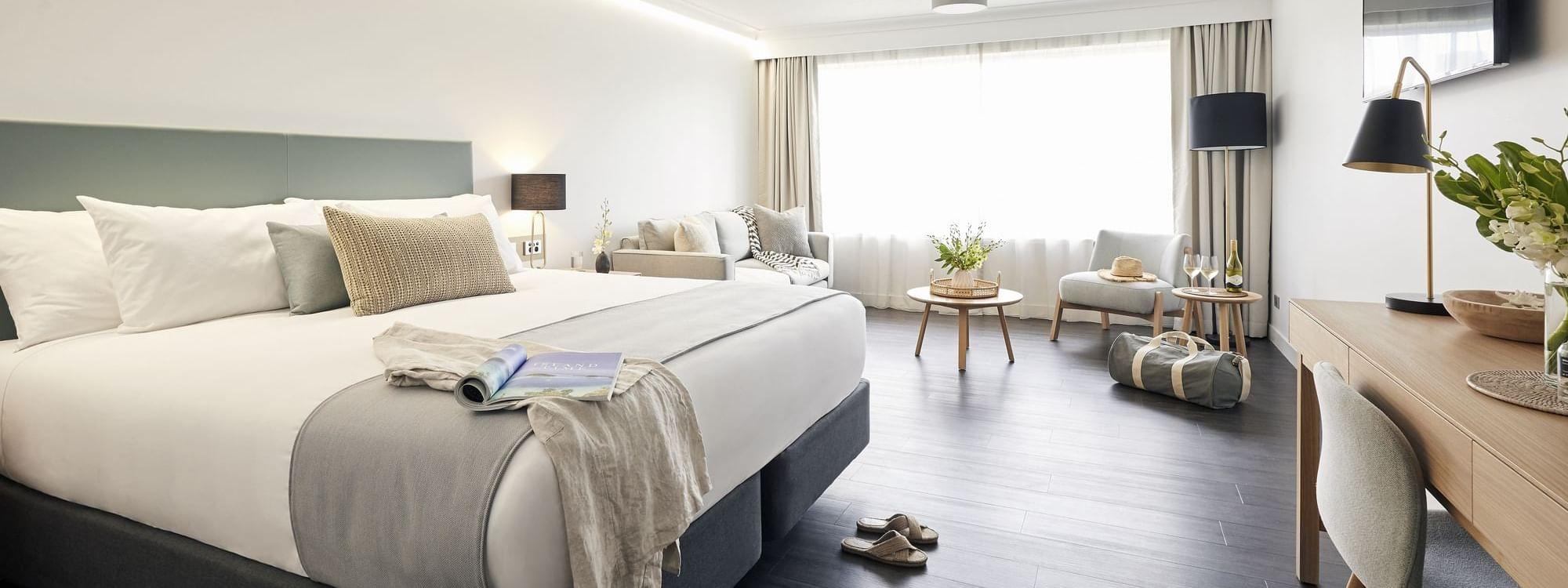 Modern comfy bed in Resort Room at Daydream Island Resort