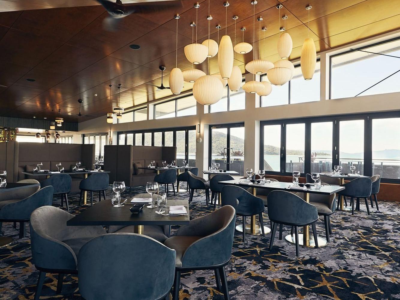 Infinity Restaurant dining area at Daydream Island Resort