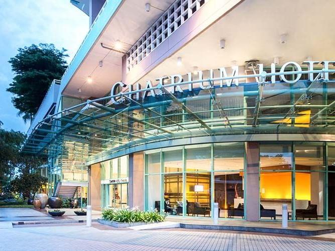 View of Nearby Shops at Chatrium Hotel Riverside Bangkok