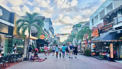 Playa del carmen 5th avenue near The Reef Resorts