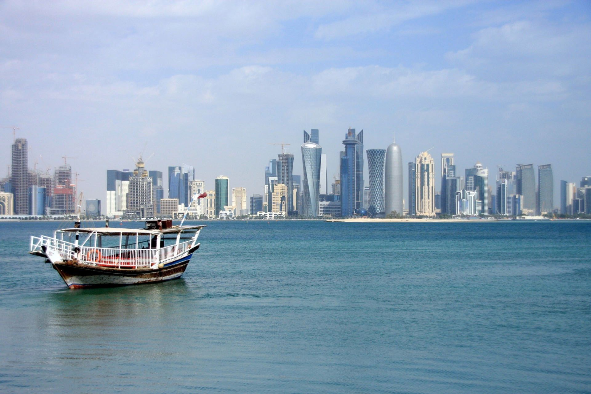 Doha from the sea