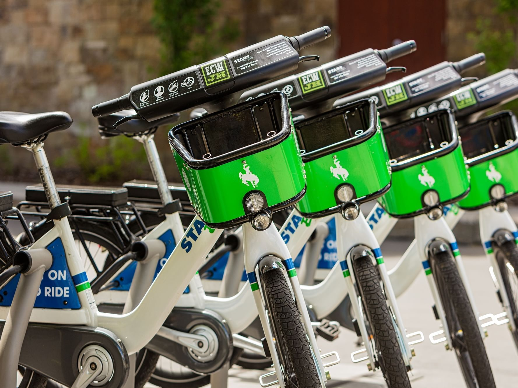 Start bike rentals at the Wyoming Inn