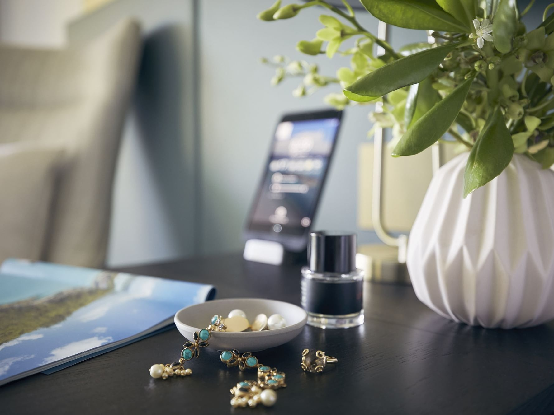 Jewelries on table in Serenity room at Daydream Island Resort