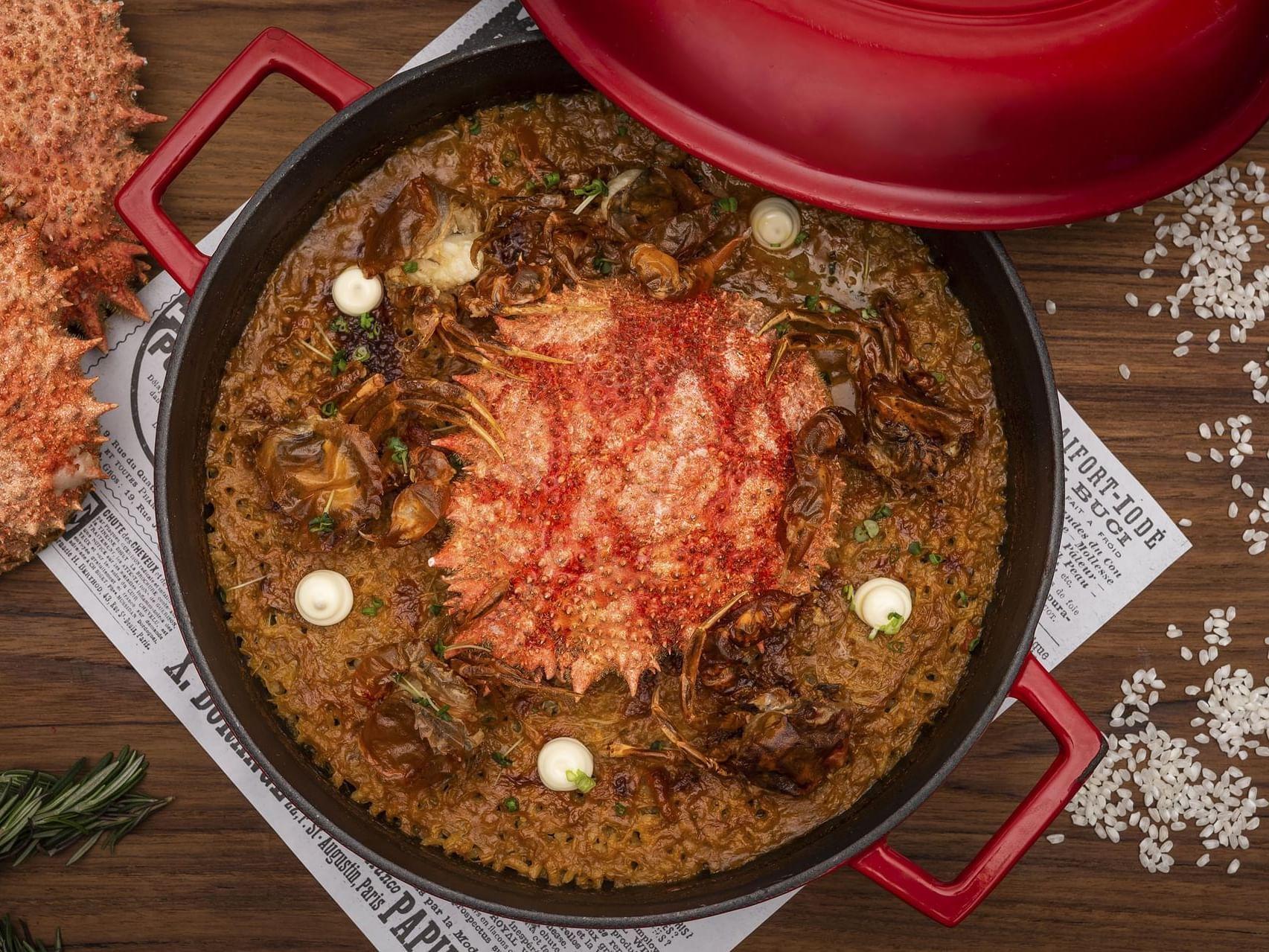 A dish in a restaurant at Chatrium Residence Sathon Bangkok