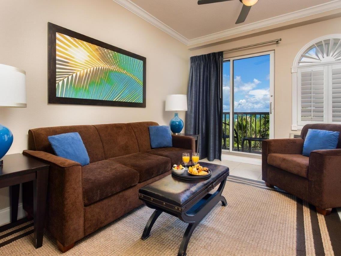 Sofa set in King Suite Living Room at Shephard's Beach Resort
