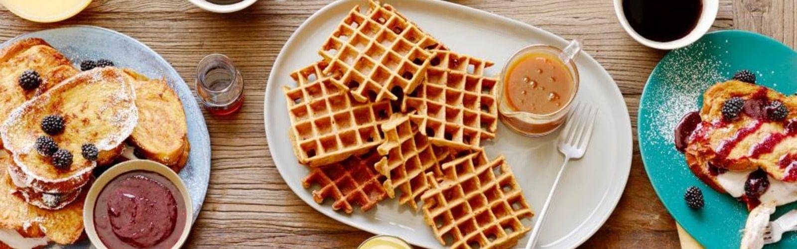 Crispy Waffle Plates with sauce at Grosvenor Hotel Restaurant