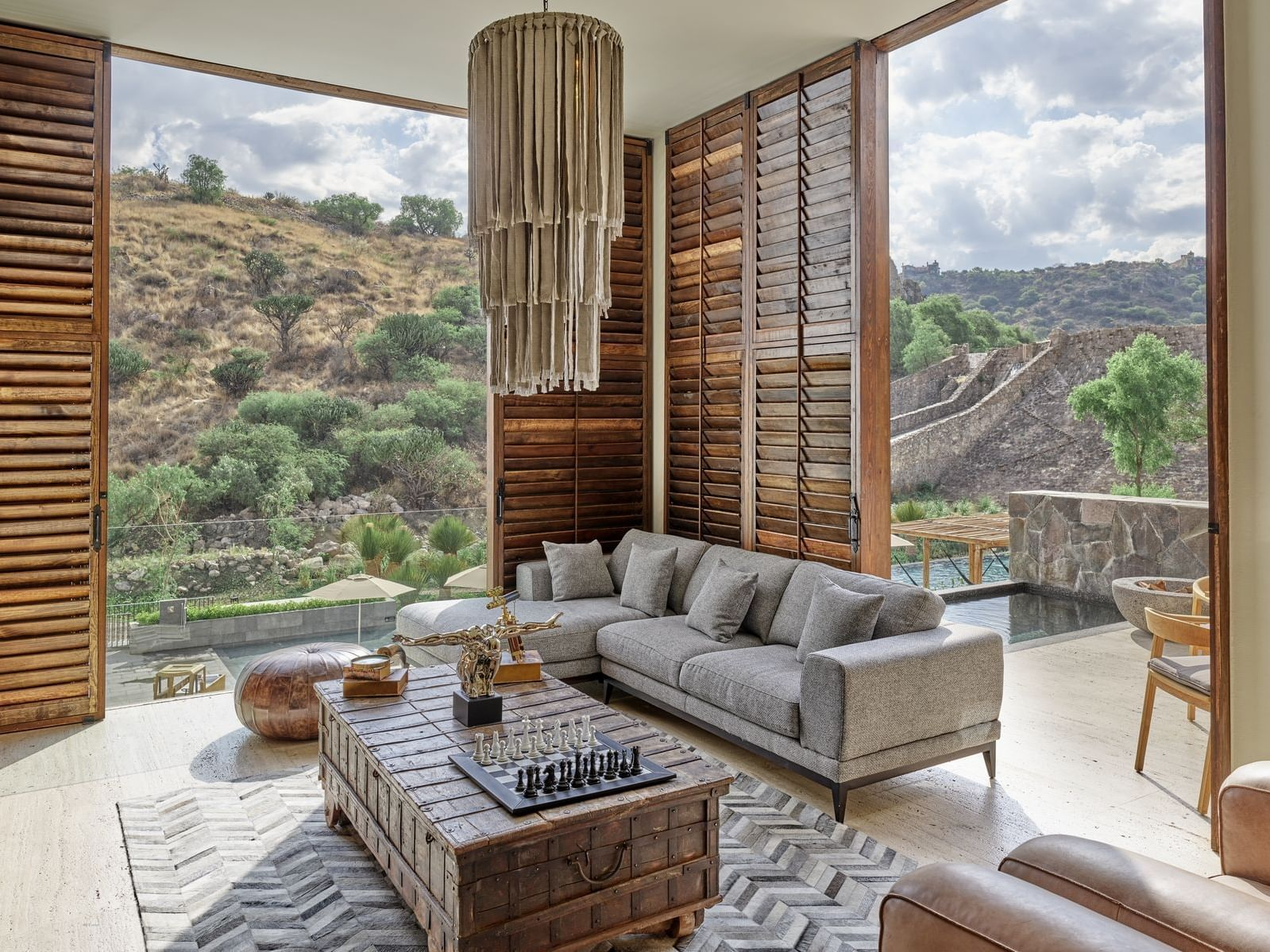 Presidential suite living room at the La Coleccion Resorts