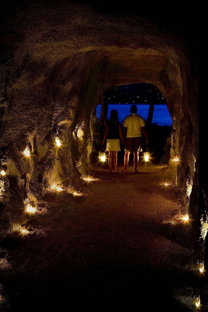 Granite tunnel near Outback Lakeside Vacation Homes