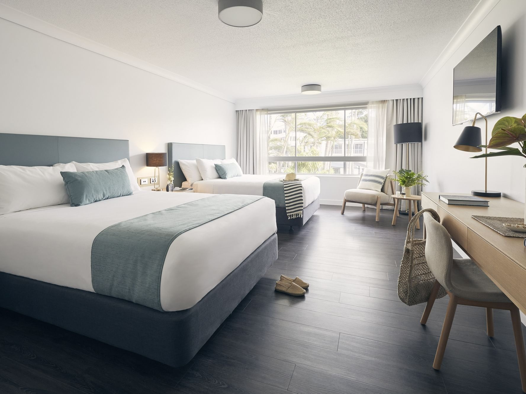 Two double beds in Resort room at Daydream Island Resort