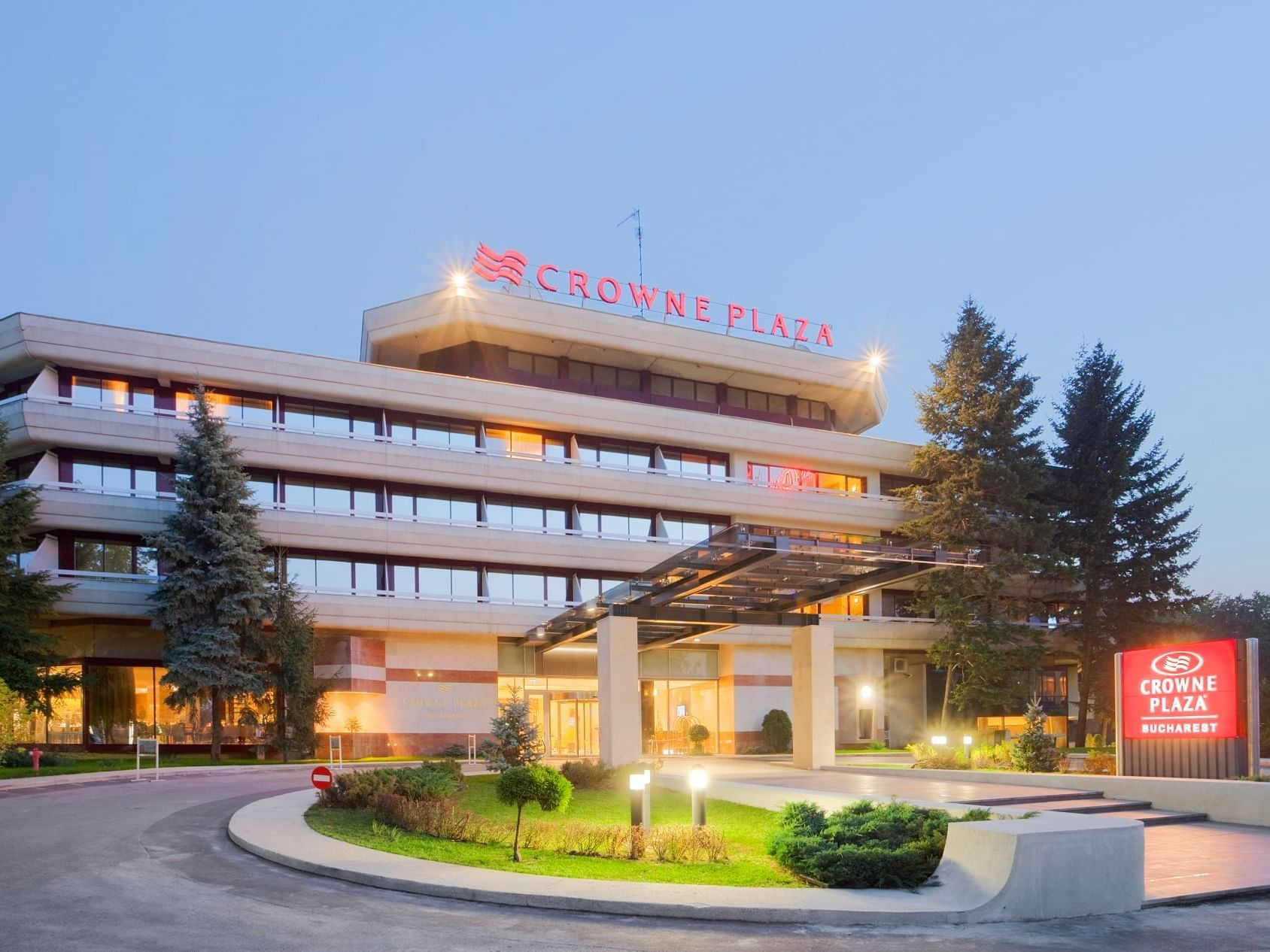An Exterior view of the Hotel at Crowne Plaza Bucharest