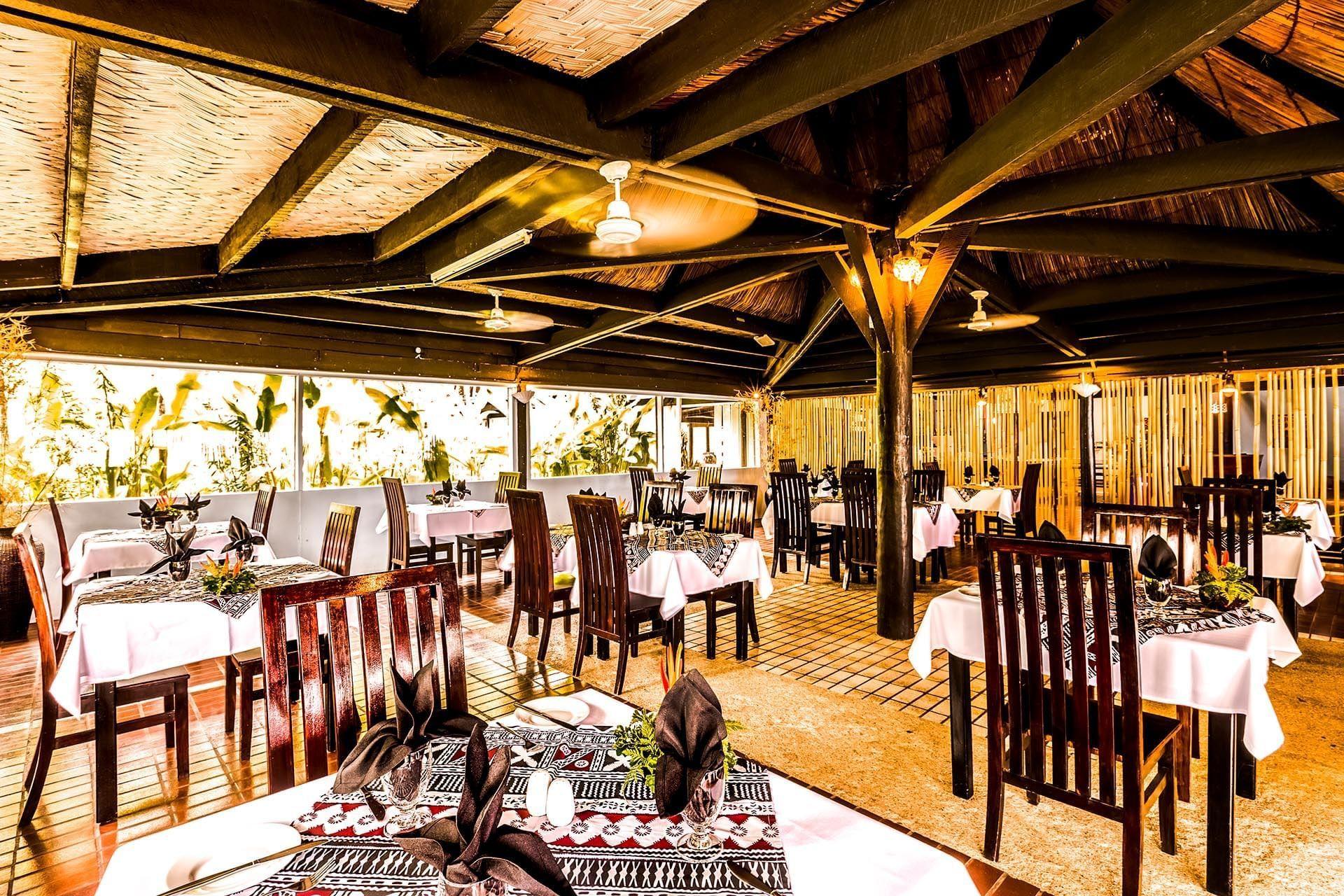 Restaurant at Tambua Sands Beach Resort