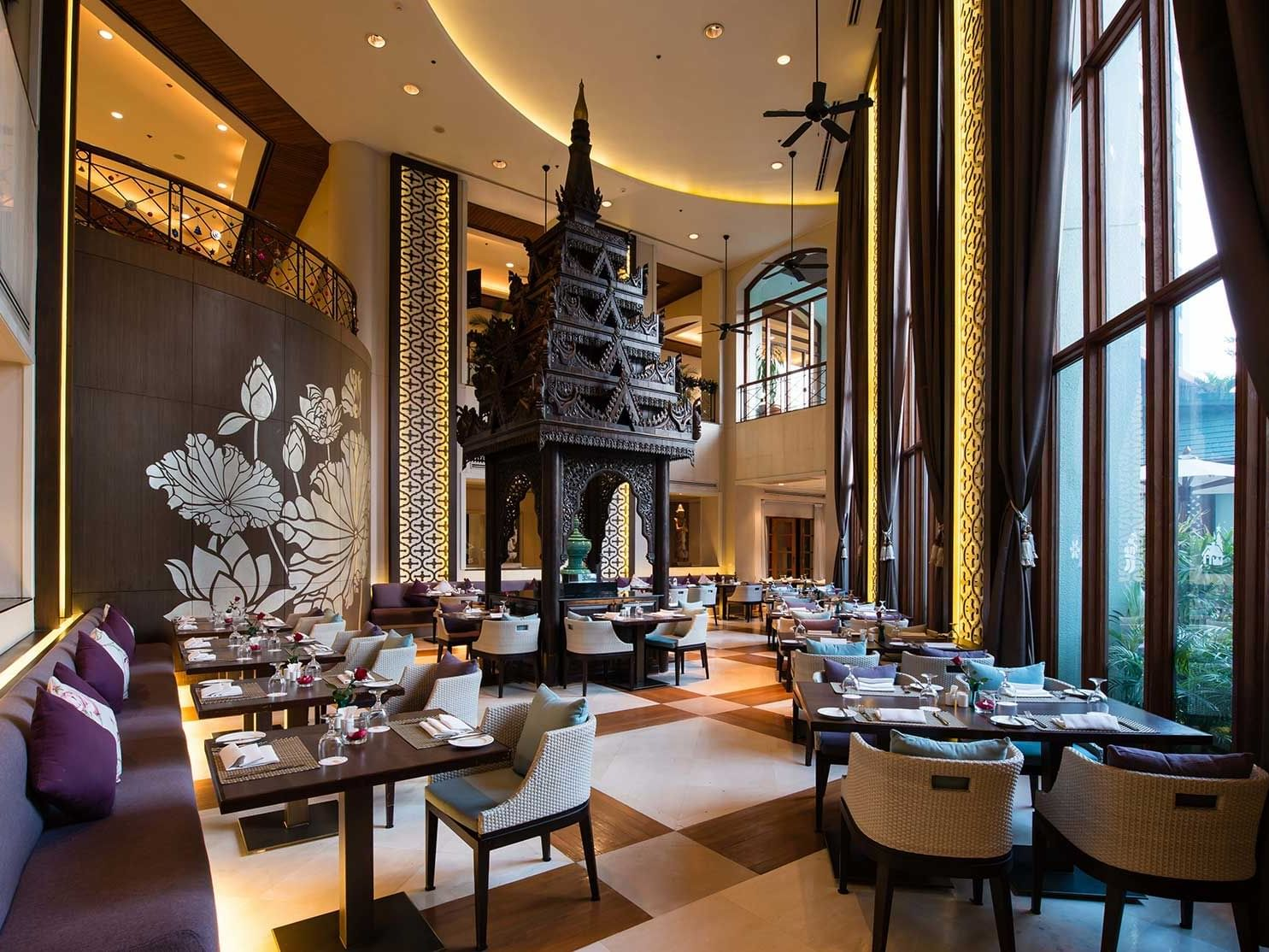 View of Emporia Restaurant  at Chatrium Hotel Royal Lake Yangon
