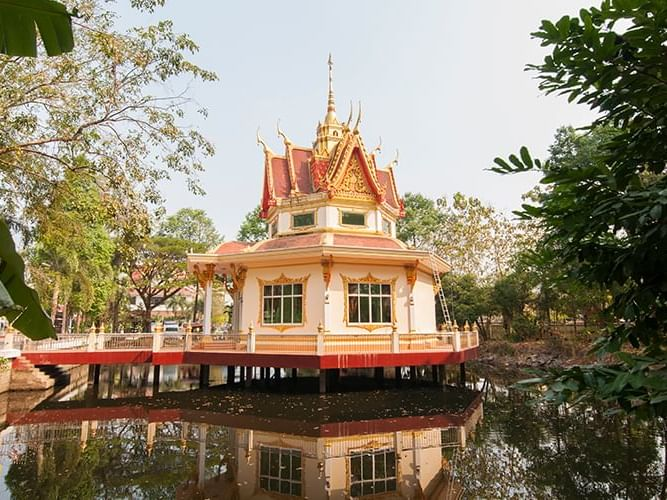 Exterior view of Wat Phai Lom near Chatrium Golf Resort Soi Dao Chanthaburi