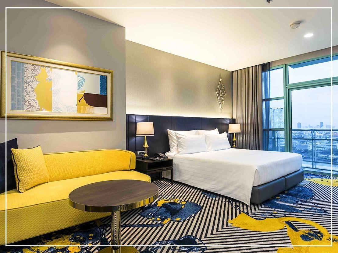 Grand Room City View at Chatrium Hotel Riverside Bangkokn