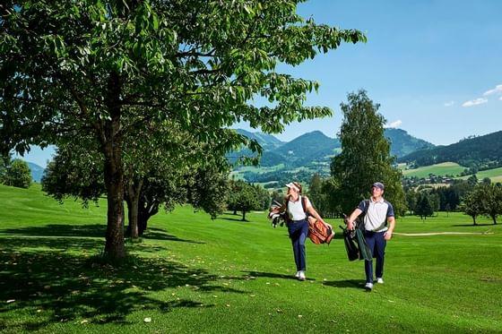 Golfen beim Schloss Pichlarn