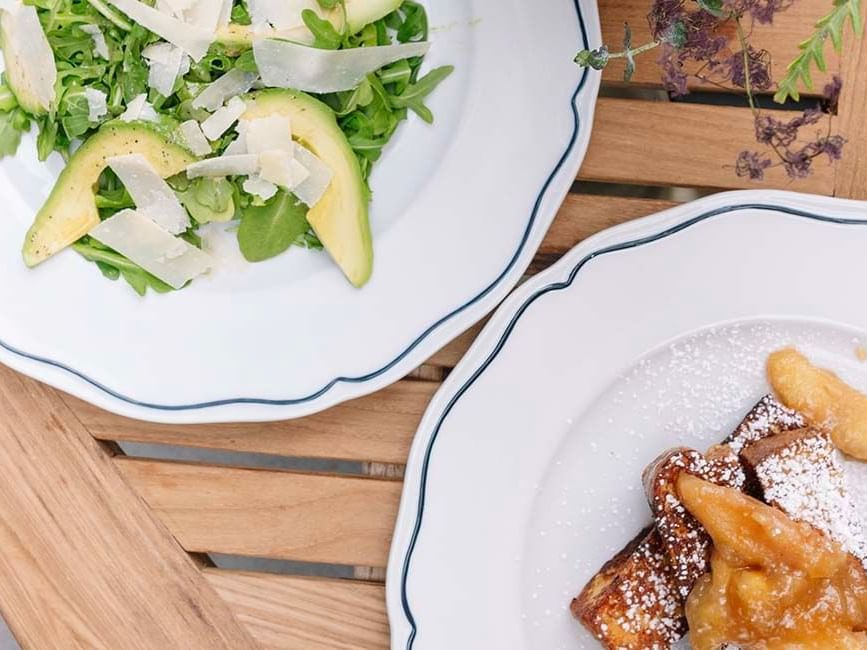 salad and french toast