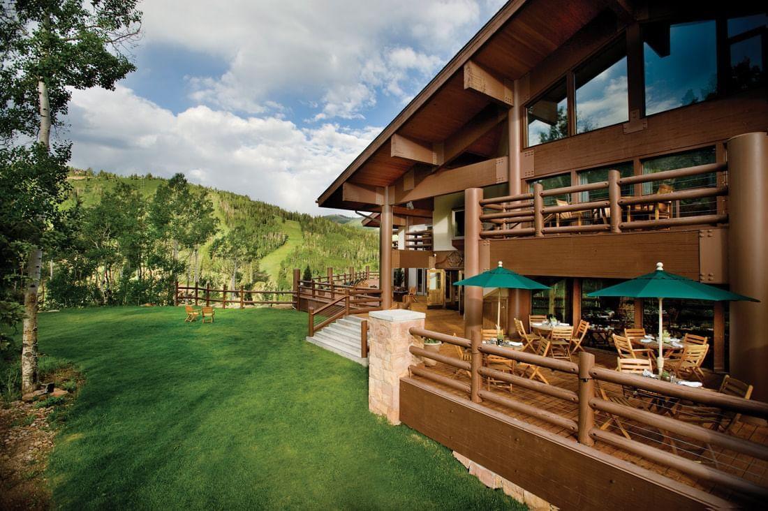 Stein Eriksen Lodge Summer Back Deck