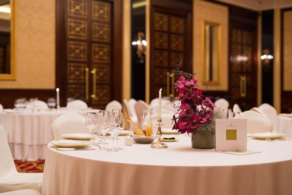 Fascinating decoration ballroom at Intercontinental Kyiv hotel