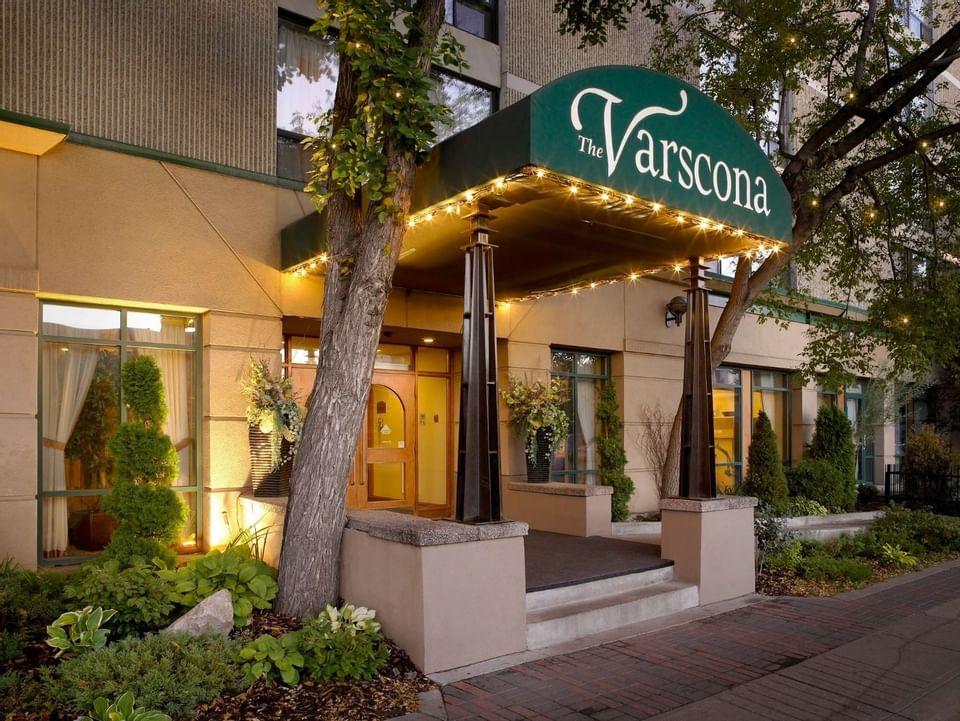The Main Entrance of Varscona Hotel on Whyte