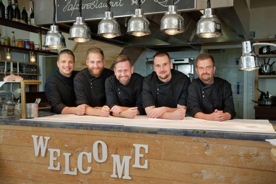 staff of Hafen restaurant at Precise Schwielowsee