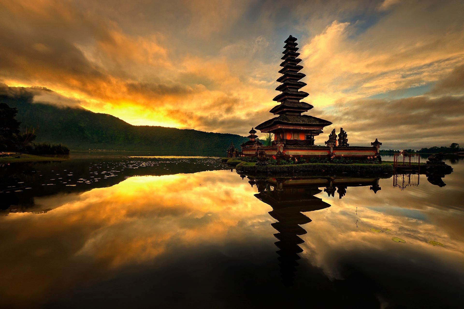 Bali Temple by evening