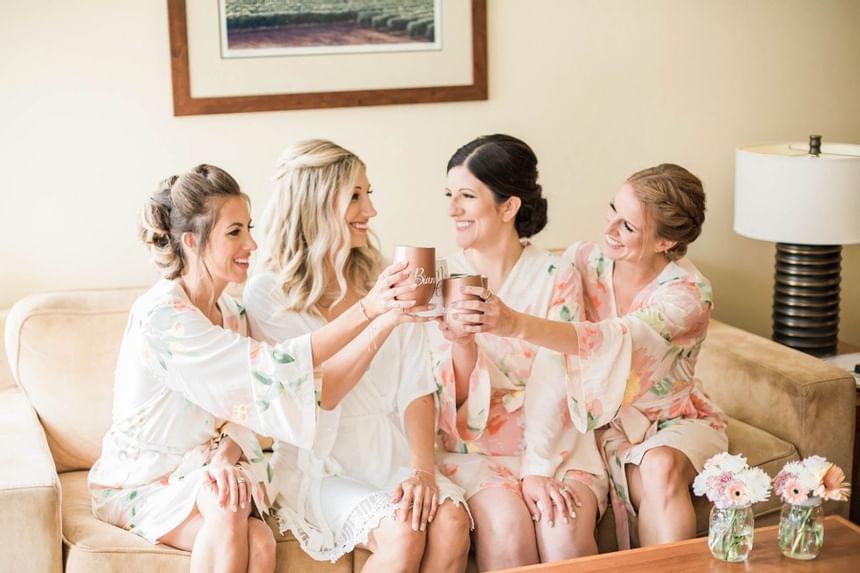 wedding girls in suite
