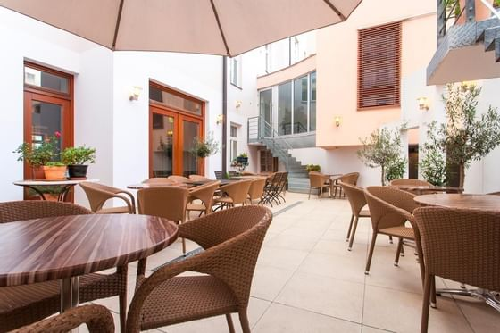 Terrace at Hotel Carol in Prague