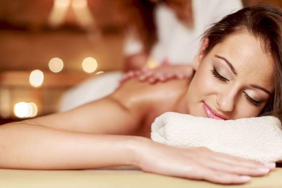Women enjoying massage