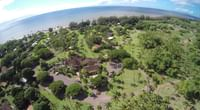 Waimea Plantation Cottages grounds from the air