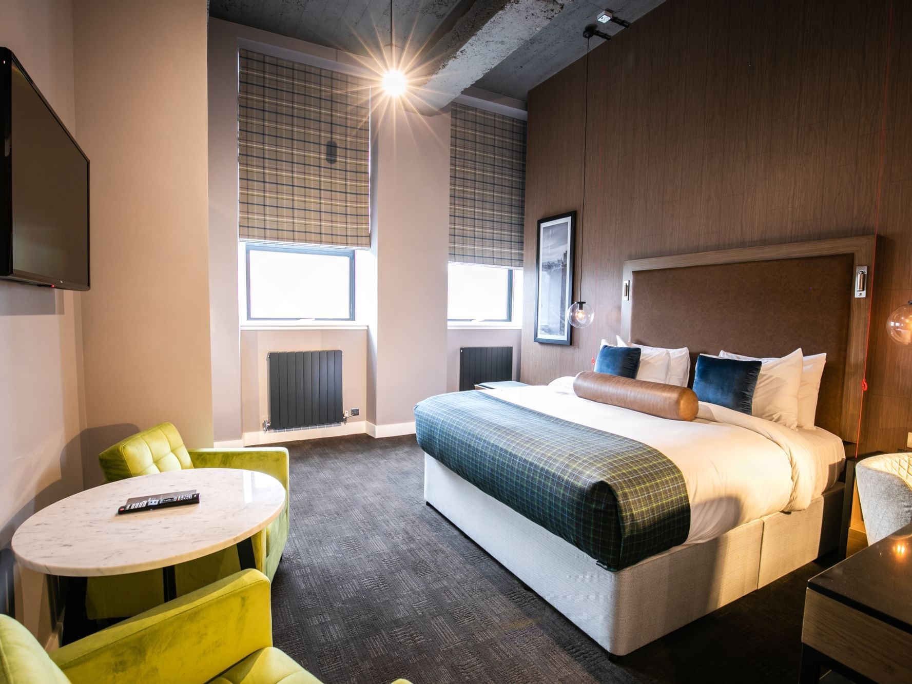 The Accessible King Room at Sandman Signature Aberdeen Hotel with one super king bed (luxury glencraft mattress)