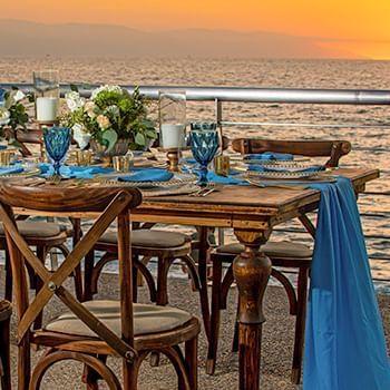 sea vie and blue decoration at Sunset Plaza Beach Resort